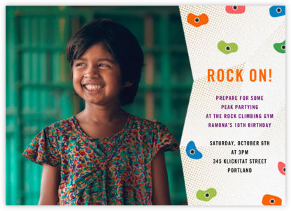 Rock Gym (Photo) - Paperless Post - Online Kids' Birthday Invitations