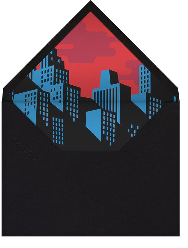 Spotlight Over Gotham (Photo) - Paperless Post - Kids' birthday - envelope back