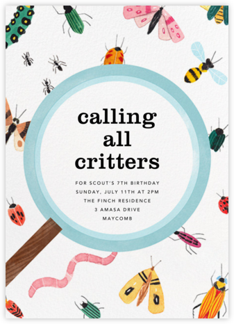 Insect Inspector - Paperless Post - Birthday invitations