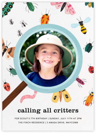 Insect Inspector (Photo) - Paperless Post - Birthday invitations