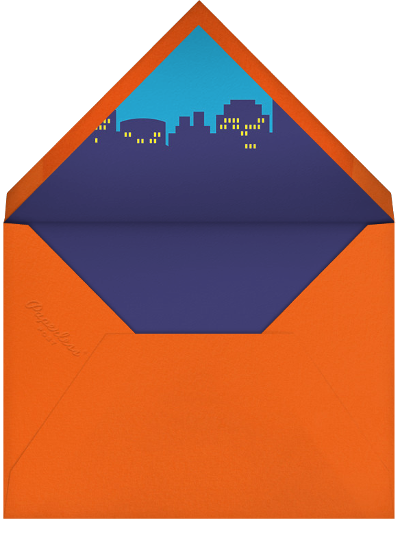 Bam Bam Pow (Photo) - Blue - Paperless Post - Envelope