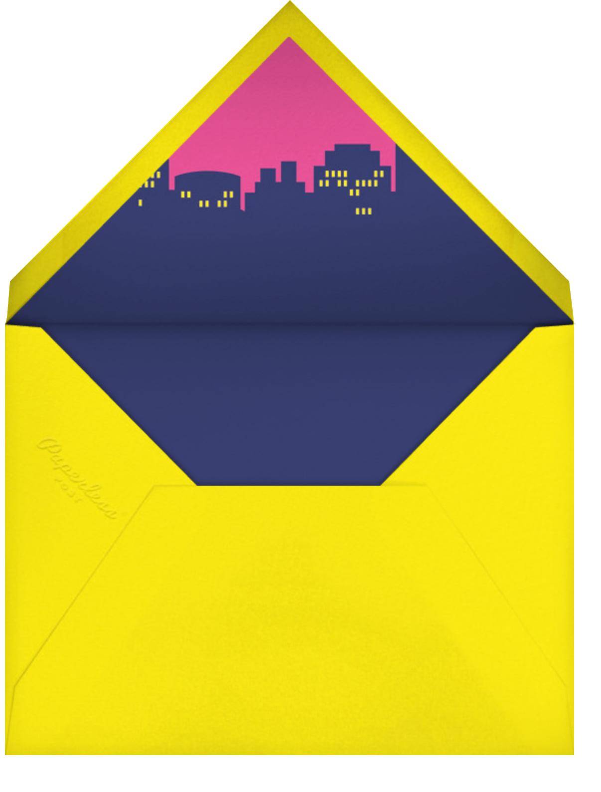 Bam Bam Pow (Photo) - Pink - Paperless Post - Envelope
