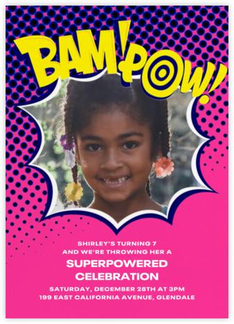 Bam Bam Pow (Photo) - Pink - Paperless Post -
