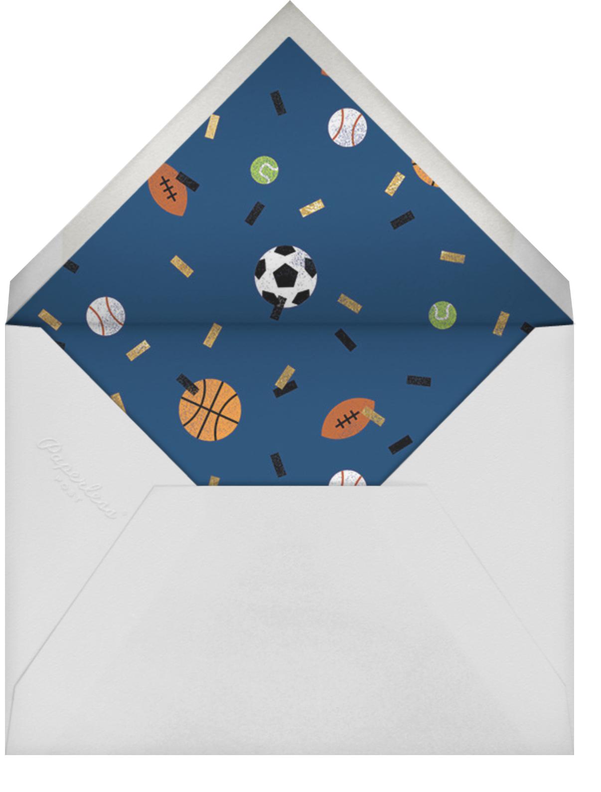 Sportsfetti - Black - Paperless Post - Kids' birthday - envelope back