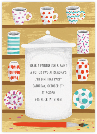 Time to Kiln - Paperless Post - Online Kids' Birthday Invitations