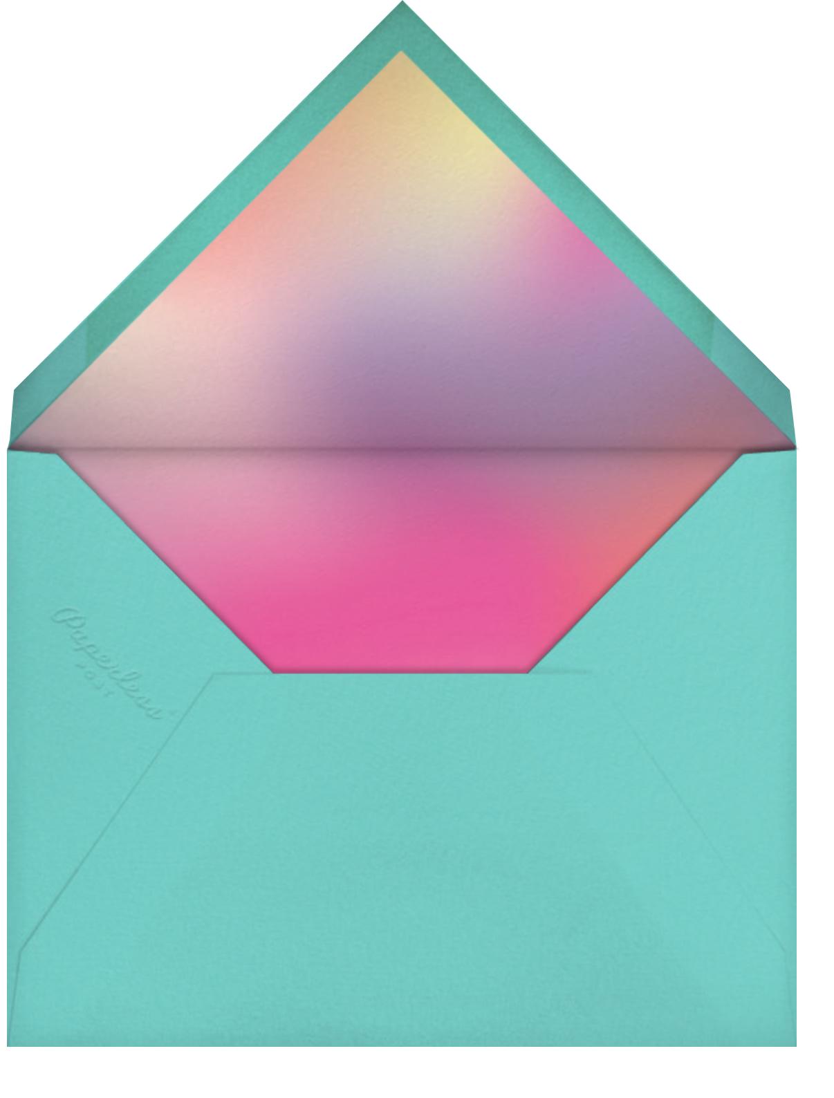 Birthday Candle Lighting - White - Paperless Post - Kids' birthday - envelope back