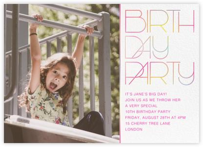 Birthday Candle Lighting (Photo) - White - Paperless Post - Online Kids' Birthday Invitations