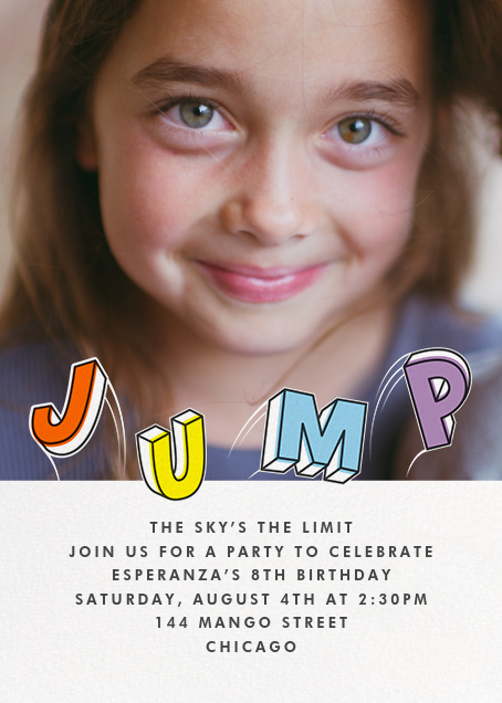 Airborne (Photo) - Paperless Post - Kids' birthday invitations