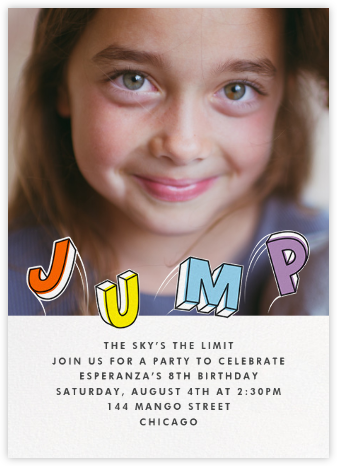 Airborne (Photo) - Paperless Post - Kids' birthday invitations