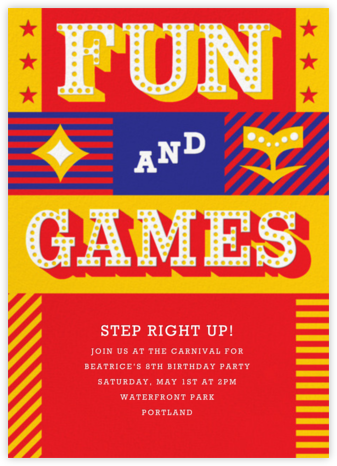 Big Top Bash - Paperless Post - Online Kids' Birthday Invitations