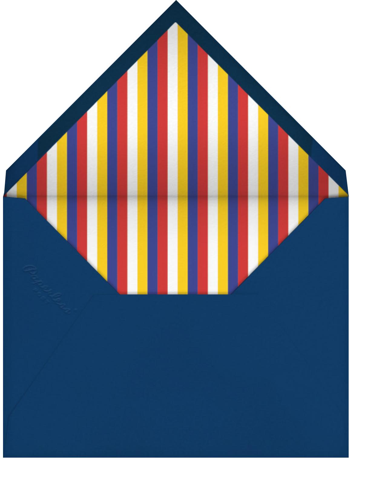Big Top Bash - Paperless Post - Kids' birthday - envelope back
