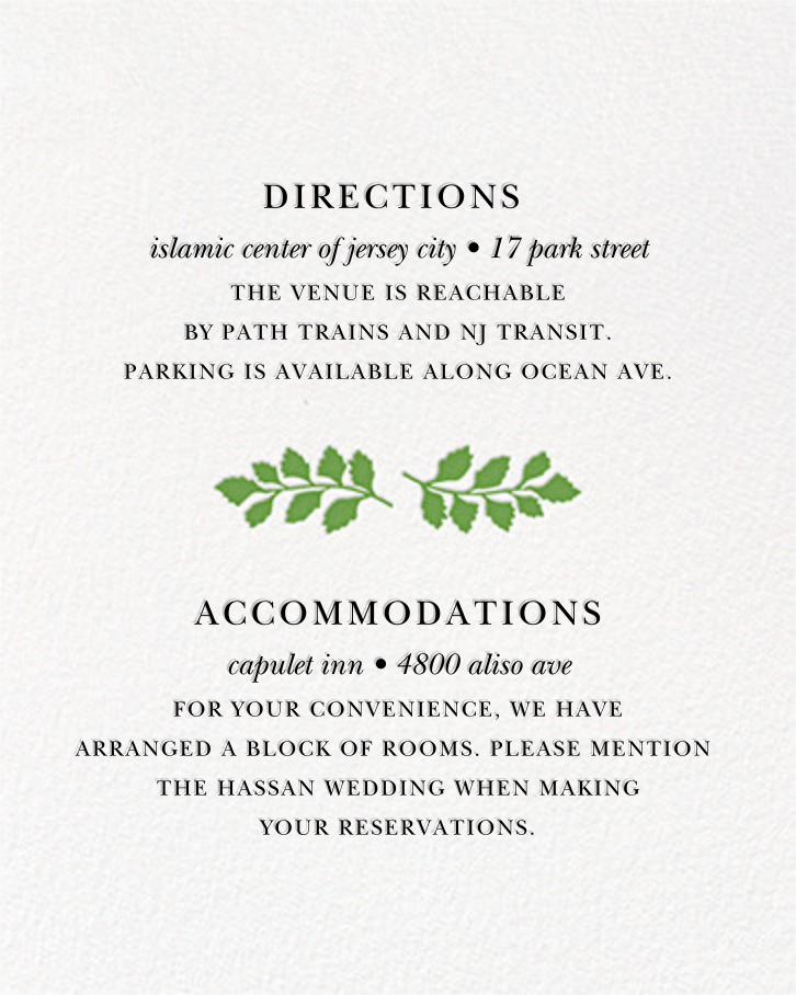 Fern II (Invitation) - Green - Paperless Post - All - insert front