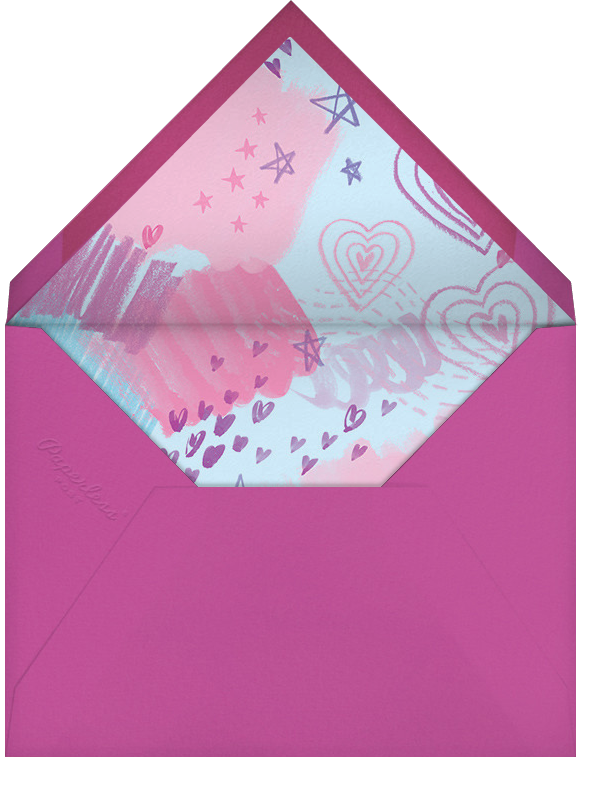 Dear Diary - Paperless Post - Kids' birthday - envelope back