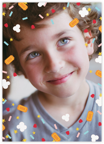Filmfetti (Photo) - Pink - Paperless Post - Online Kids' Birthday Invitations