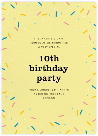 Sprinkles on Top - Paperless Post - Birthday invitations