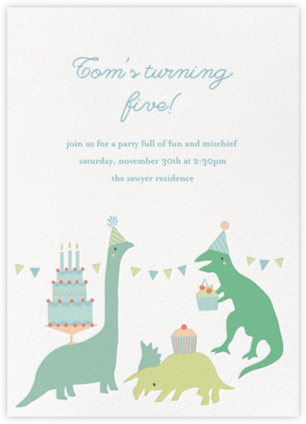 Bronty's Birthday Bash - Little Cube - Kids' birthday invitations