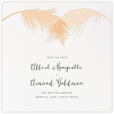 Tropical Palm (Save the Date) - Bellini - Paperless Post - Save the dates