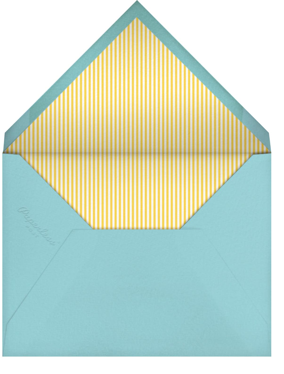 Little Duck's Big Splash - Yellow - Little Cube - Baby shower - envelope back
