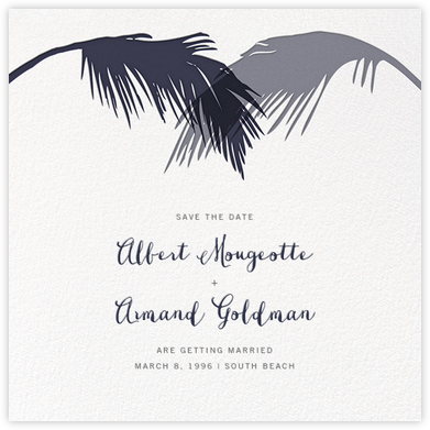 Tropical Palm (Save the Date) - Navy | null