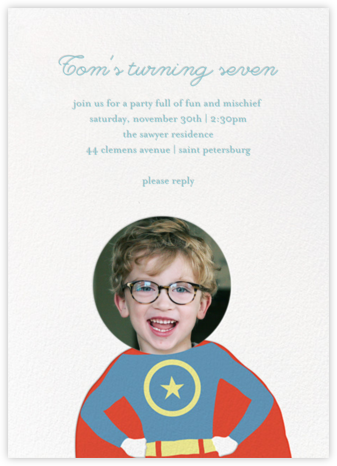 To the Rescue - Blue - Little Cube - Kids' birthday invitations