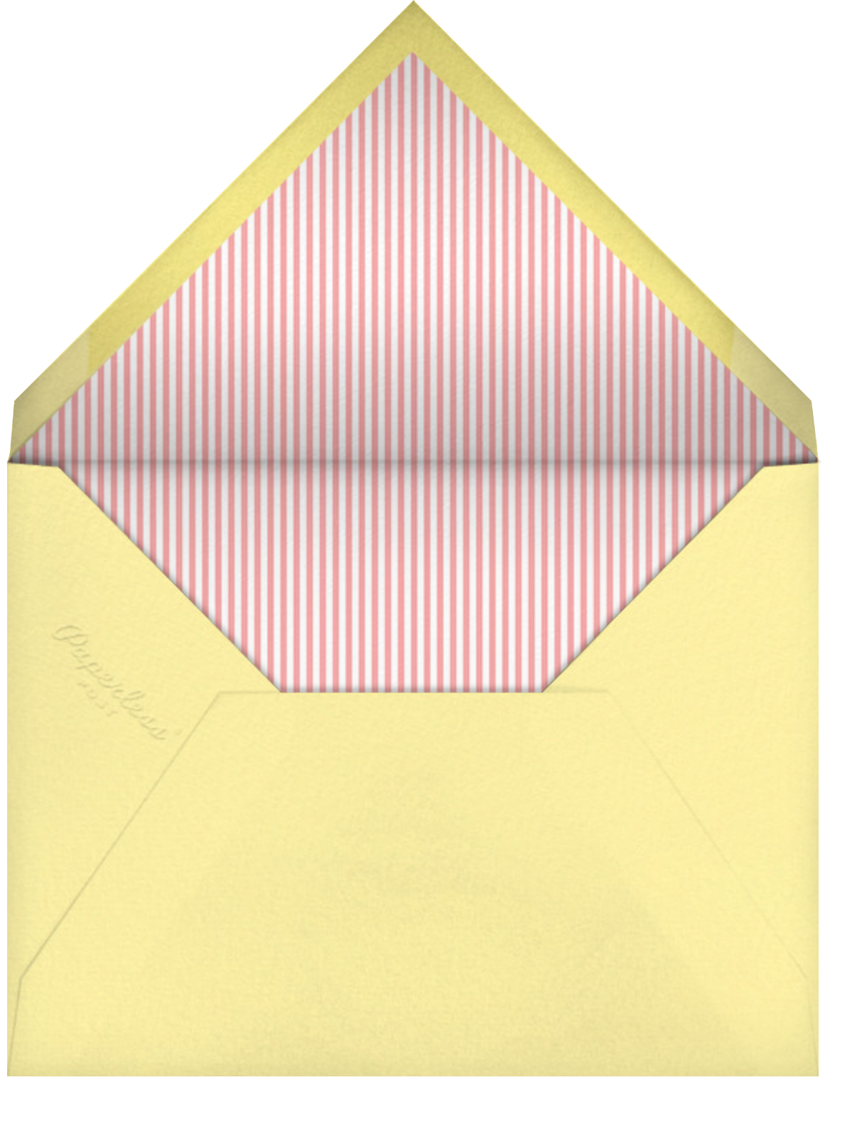 To the Rescue - Pink - Little Cube - Kids' birthday - envelope back