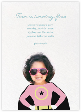 To the Rescue - Pink - Little Cube - Invitations