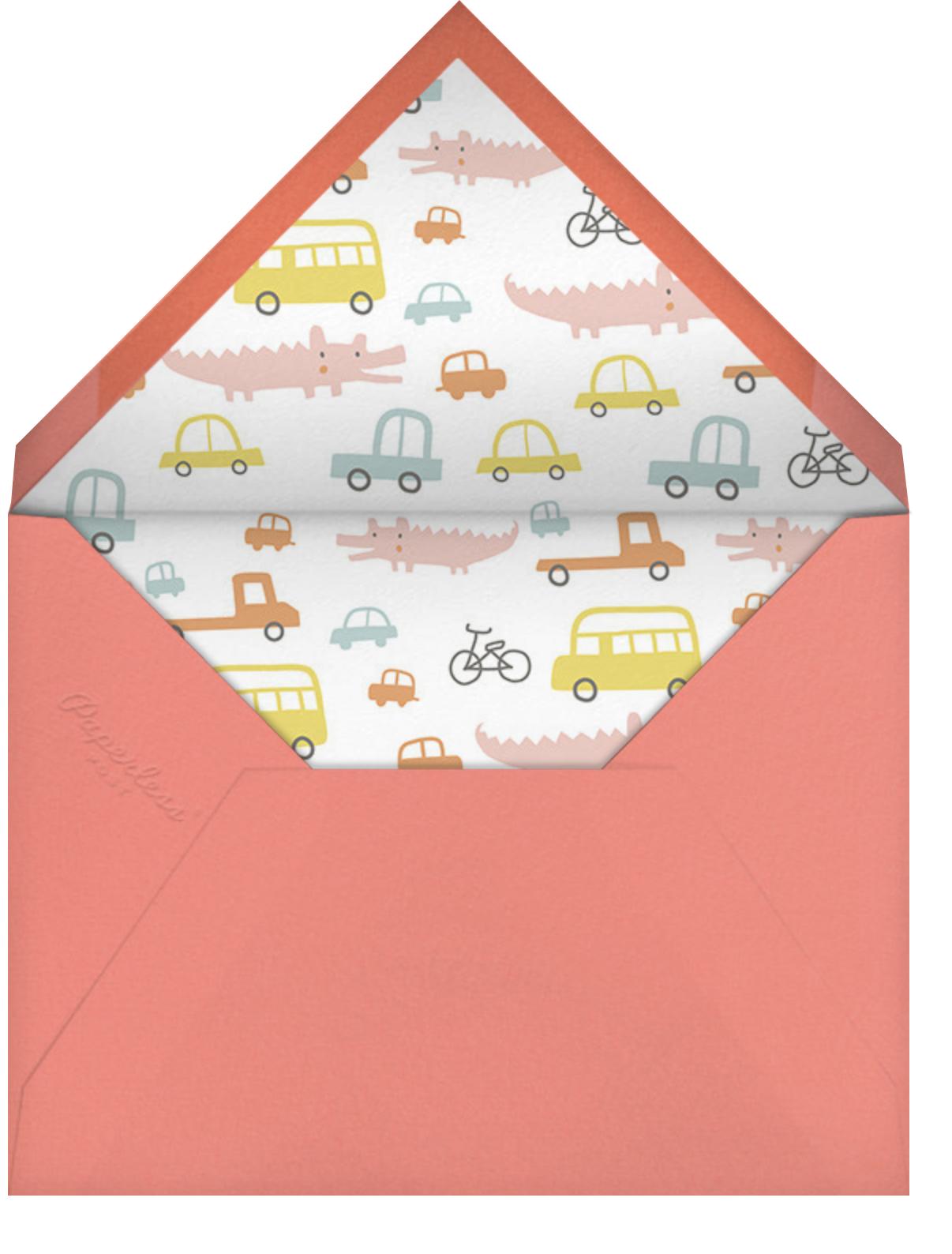 Little Layer Cake - Blue - Little Cube - Kids' birthday - envelope back
