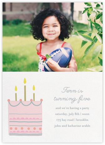 Little Layer Cake - Pink - Little Cube - Online Kids' Birthday Invitations