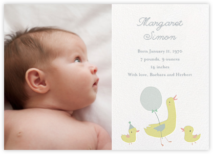 Little Duck's Debut - Little Cube - Birth Announcements