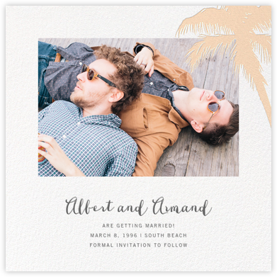 Tropical Palm (Photo Save the Date) - Bellini - Paperless Post - Save the dates
