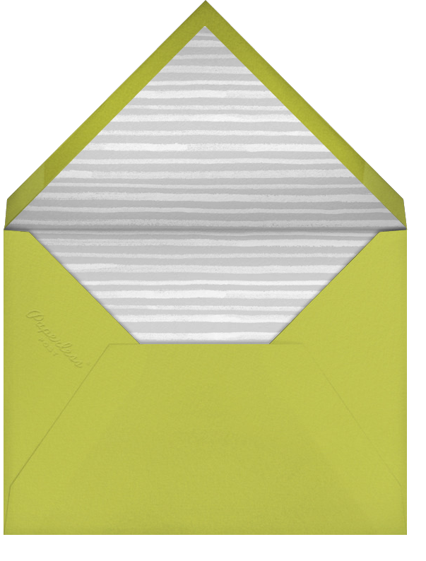 Tropical Palm (Photo Save the Date) - Chartreuse - Paperless Post - Envelope