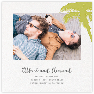 Tropical Palm (Photo Save the Date) - Chartreuse | null