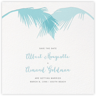 Tropical Palm (Save the Date) - Caribbean | null