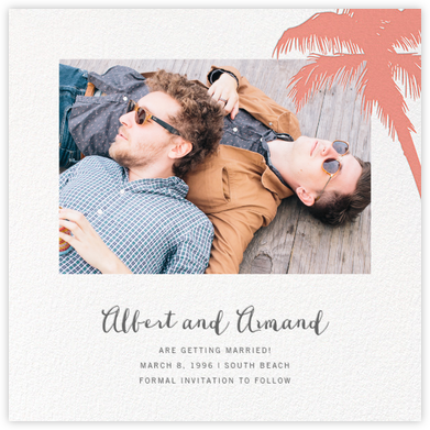 Tropical Palm (Photo Save the Date) - Papaya - Paperless Post - Save the dates