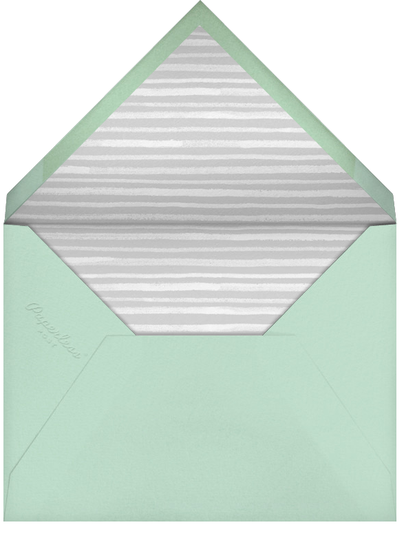 Tropical Palm (Photo Save the Date) - Mint - Paperless Post - Photo  - envelope back