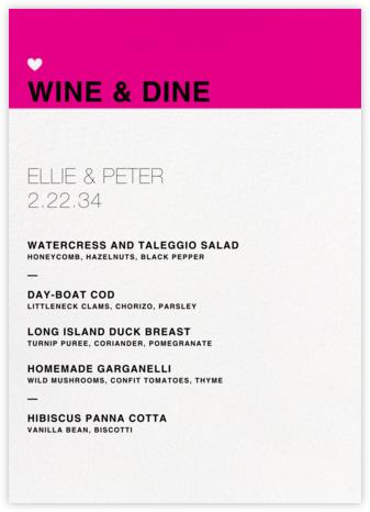 Memoir (Menu) - Bright Pink - Paperless Post - Wedding menus and programs - available in paper