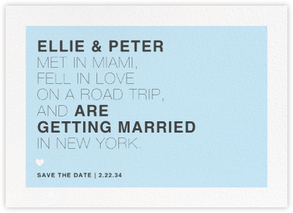 Memoir (Save the Date) - Glacier - Paperless Post - Save the dates