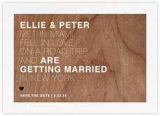 Memoir (Save the Date) - Wood