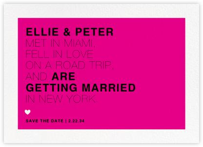 Memoir (Save the Date) - Bright Pink - Paperless Post -