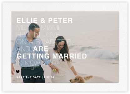 Memoir (Photo Save the Date) - Black - Paperless Post - Save the dates