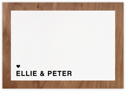 Memoir (Stationery) - Wood - Paperless Post - Personalized Stationery