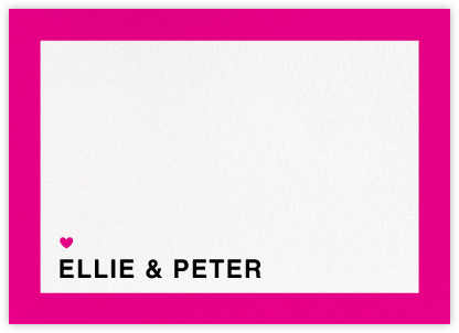 Memoir (Stationery) - Bright Pink - Paperless Post - Personalized Stationery