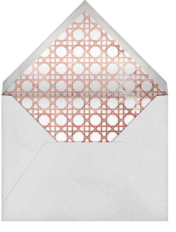 Southampton - White/Rose Gold - Jonathan Adler - Save the date - envelope back