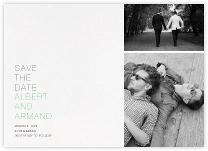 Eastman (Horizontal) - Paperless Post - Modern save the dates