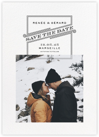 Volute (Square Photo) - Paperless Post - Photo save the dates