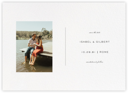 Transom (Horizontal Portrait) - Paperless Post - Save the dates
