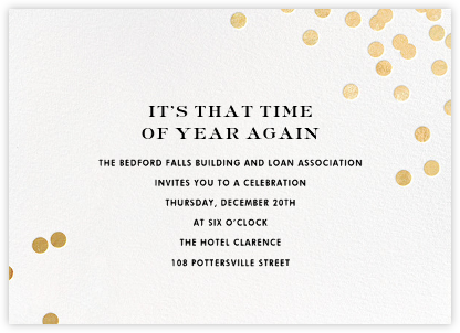 Confetti - White/Gold - kate spade new york - Reception invitations
