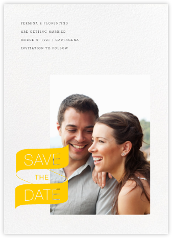 Insignia (Portrait Photo) - Paperless Post - Wedding Save the Dates