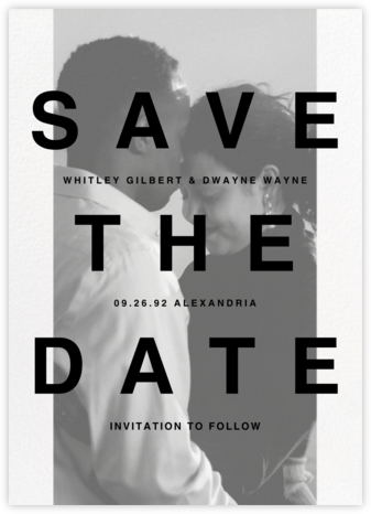 Communiqué (Tall) - Paperless Post - Modern save the dates