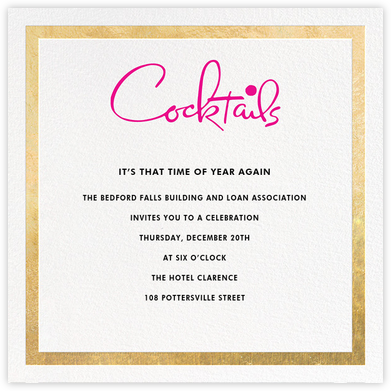 Classic Vintage - Gold/Pink - kate spade new york - Business event invitations